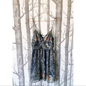 //URBAN OUTFITTERS// Chiffon Print Babydoll Dress
